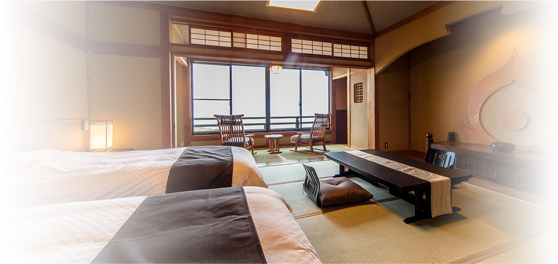 Ocean view All rooms are Japanese-style with semi-double beds